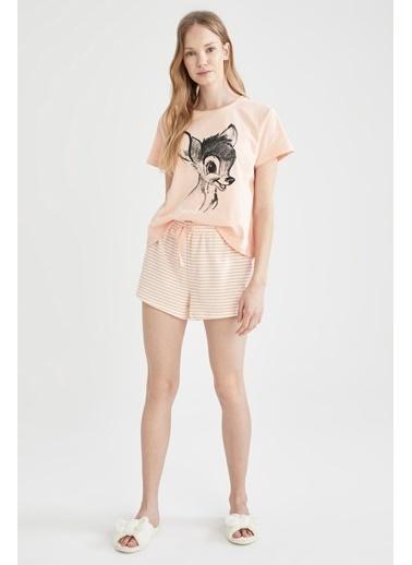 DeFacto Walt Disney Lisanslı Pijama Takımı Ekru